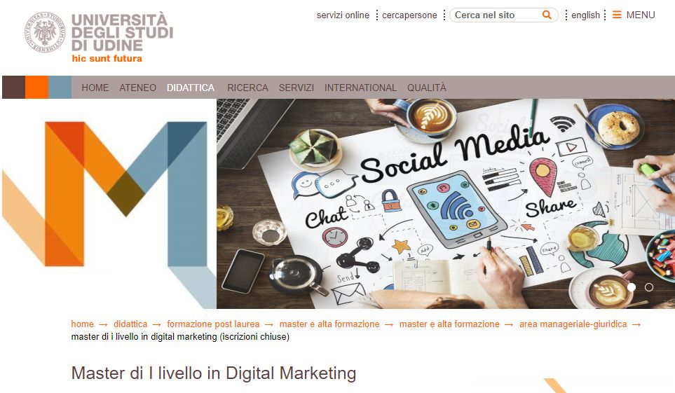 The Village per il Master in digital marketing dell'Università di Udine